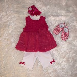 NWT Baby Essentials Two Piece Outfit Girls 9M